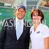 Photo by Tony Powell. Mark Ein, Martina Hingis. Kastles VIP Reception. Kastles Stadium. July 7, 2010